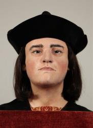 The facial reconstruction of Richard III is unveiled to the media at the Society of Antiquaries, London, Tuesday Feb. 5, 2013.
