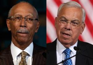Detroit Mayor Dave Bing, left, and Boston Mayor Thomas Menino.