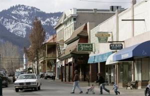 Pedestrians cross Miner Street in Yreka, Calif., in this 2008 file photo. Yreka is the seat of Siskiyou County.