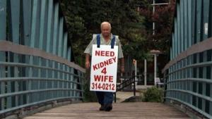 Larry Swilling walked the streets of Anderson, South Carolina, wearing this board.