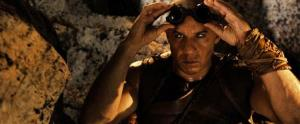 """This publicity photo released by Universal Pictures shows Vin Diesel as the antihero, Riddick, a dangerous, escaped convict wanted by every bounty hunter in the known galaxy—in """"Riddick"""" from Universal Pictures."""