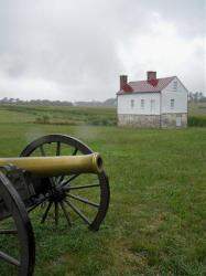 This July 21, 2012 photo shows a cannon in front of the Best farm outside of Frederick, Md.