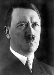 Adolf Hitler is shown in this official 1937 photo.