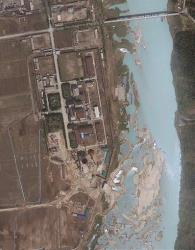 This April 30, 2012 file satellite image provided by GeoEye shows the area around the Yongbyon nuclear facility; this is not the newly analyzed image.