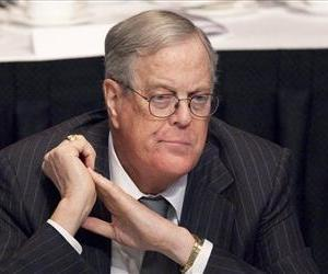 In this April 11, 2011 file photo, David Koch, executive vice president of Koch Industries, attends a meeting of  the Economic Club of New York.
