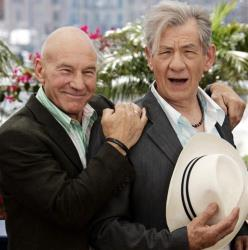 Professor X got married last weekend and Magneto officiated. Translation for the non-geeks: Patrick Stewart married Sunny Ozell, and Ian McKellen officiated.