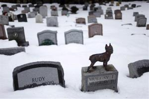 In this file photo, headstones marking the graves of pets are spread throughout the Hartsdale Pet Cemetery in Hartsdale, N.Y.