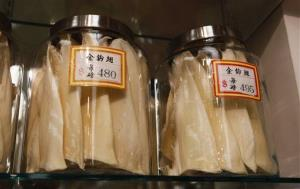 In this 2011 photo, shark fins are available for sale at $480 and $495 a pound at a store in Chinatown in San Francisco.