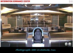 The bridge of the 'Trek' inspired Information Dominance Center