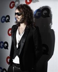 Russell Brand arrives at the GQ magazine 2008 Men of the Year party in Los Angeles.