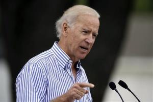 Vice President Joe Biden speaks during Iowa Sen. Tom Harkin's annual fundraising steak fry dinner, Sunday, Sept. 15, 2013, in Indianola, Iowa.