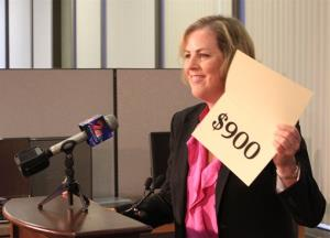 Acting Alaska Department of Revenue Commissioner Angela Rodell announces this year's amount.