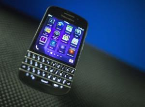File photo of a BlackBerry Q10.