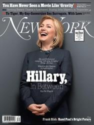 Hillary Clinton on the cover of New York magazine.