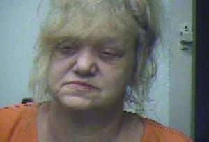 Sandy Hatte is seen in this booking photo.