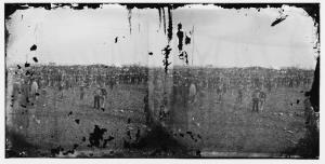Alexander Gardner's original image from the Gettysburg dedication. Smithsonian has an interactive version that shows the competing Lincolns.