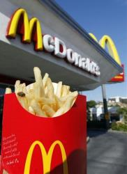 This Tuesday May 25, 2010 photo shows a large size french fries at McDonald's in downtown Los Angeles.