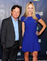 Michael J. Fox and wife Tracy Pollan attend the NBC 2013 Fall season launch party hosted by Vanity Fair at Le Bain on Monday, Sept. 16, 2013, in New York.