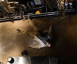 This image released by AMC shows Bryan Cranston, as Walter White, in the final scene from  Breaking Bad.