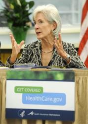 Health and Human Services secretary Kathleen Sebelius spoke in Jacksonville, Fla., on the Affordable Care Act during a visit to the Sulzbacher Center Monday afternoon, September 16, 2013.