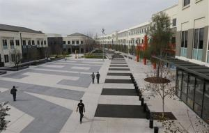 Facebook employees are shown on the campus in Menlo Park, Calif., Friday, March 15, 2013.