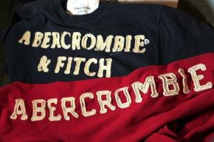 In this Nov. 14, 2011 photo, Abercrombie & Fitch sweat shirts are displayed at a store in Phoenix.