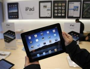 File photo of an iPad at an Apple store.