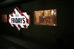 A TGI Friday's sign.