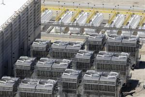 An aerial view of the cooling units at the NSA's Utah Data Center in Bluffdale, Utah.