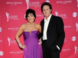 This April 5, 2009 file photo shows Kris Jenner, left, and her husband Bruce Jenner at the 44th Annual Academy of Country Music Awards in Las Vegas.