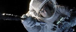 This film image released by Warner Bros. Pictures shows George Clooney in a scene from Gravity.