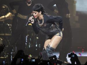 Rihanna performs in Perth, Australia during the first concert of the Australian leg of her Diamonds World Tour.