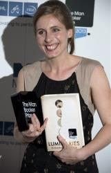 New Zealand author Eleanor Catton poses after being announced the winner of the Man Booker Prize for Fiction last night.