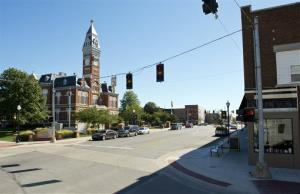 This Oct. 9, 2013 photo shows the Nodaway County Courthouse in downtown Maryville, Mo.