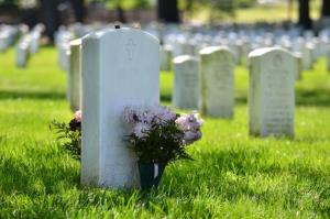 Stock image of a cemetery.