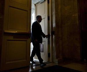 House Speaker John Boehner of Ohio arrives on Capitol Hill in Washington, Friday, Oct. 11, 2013.