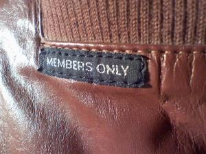 A Members Only jacket tag