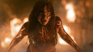 Chloe Moretz in a scene from the horror film, Carrie.