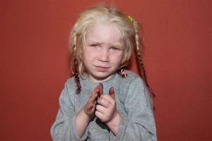 A photo released by Greek Police showing the four-year-old girl at an unknown location.