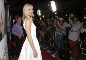 Gwyneth Paltrow arrives on the red carpet at the Los Angeles Premiere of Thanks for Sharing at the ArcLight Cinerama Dome on Monday, Sept. 16, 2013 in Los Angeles.