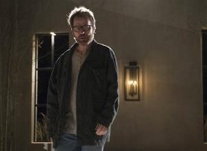 This image released by AMC shows Bryan Cranston as Walter White in a scene from the series finale of Breaking Bad, airing Sunday, Sept. 29, 2013.