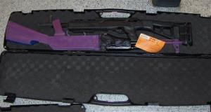 The man's case, containing two guns, which was seized by police at John F. Kennedy International Airport.