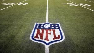 FILE - In this Nov. 20, 2011, file photo, an NFL logo is displayed on the Ford Field turf before an NFL football game between the Detroit Lions and the Carolina Panthers in Detroit. Google has been holding talks with the National Football League, raising speculation that the internet monolith...