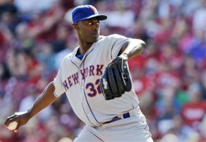 New York Mets relief pitcher LaTroy Hawkins throws against the Cincinnati Reds last month.