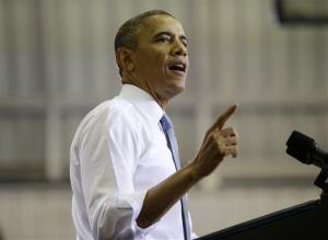 President Obama speaks about the Affordable Care Act at Prince George's Community College in Largo, Maryland last month.