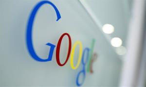 This Oct. 1, 2011 file photo shows the Google logo at the Google headquarters in Brussels.
