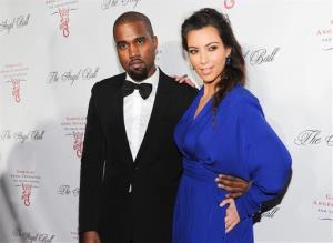 In this Oct. 22, 2012 file photo, Kanye West and Kim Kardashian attend Gabrielle's Angel Foundation 2012 Angel Ball cancer research benefit at Cipriani Wall Street in New York.