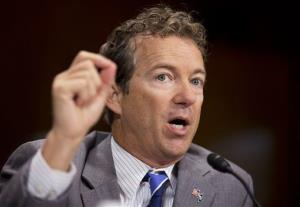 Rand Paul testifies before a Senate Judiciary Committee hearing to examine reevaluating the effectiveness of Federal mandatory minimum sentences, on Capitol Hill in Washington, Sept. 18, 2013.