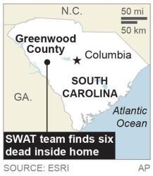 Map locates Greenwood County, S.C.