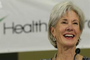 Health and Human Services Secretary Kathleen Sebelius sits on a panel to answer questions about the Affordable Care Act enrollment, Friday, Oct. 25, 2013, in San Antonio.
